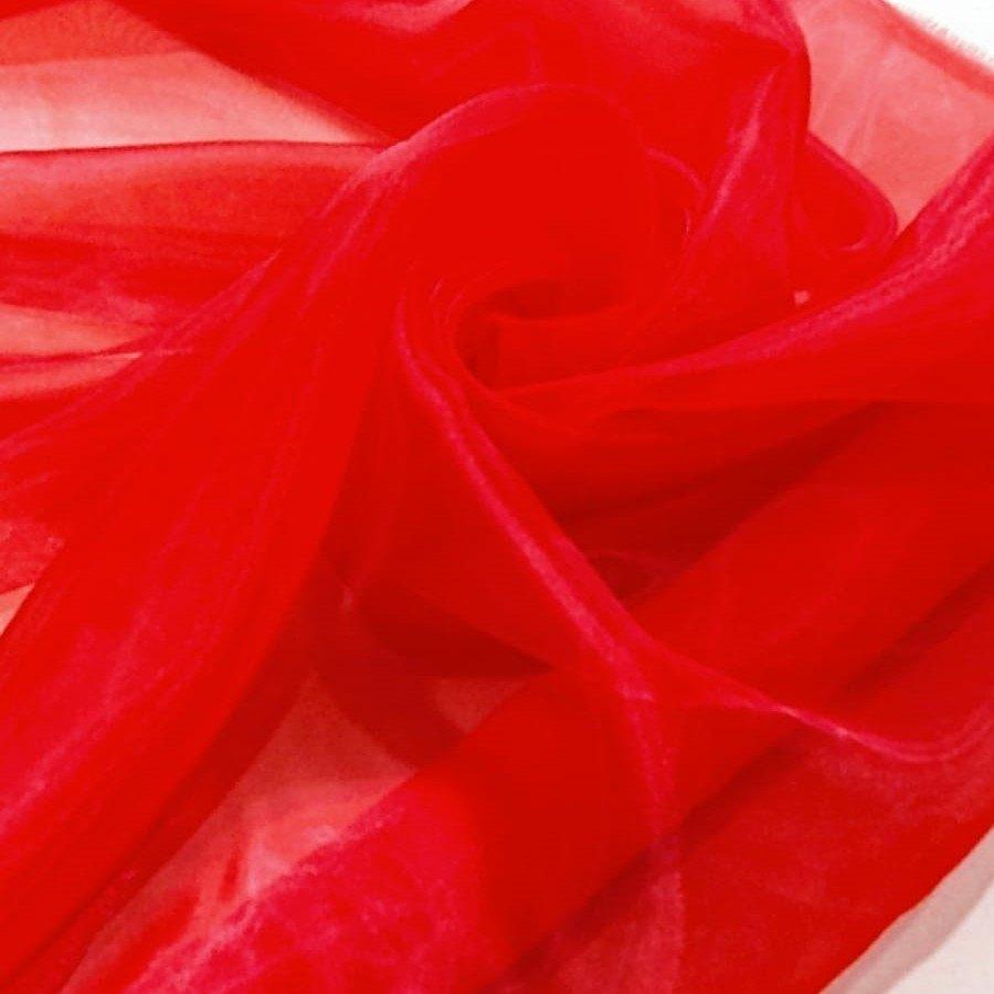 Tecido Organza Cristal Cor Vermelho Âmbar