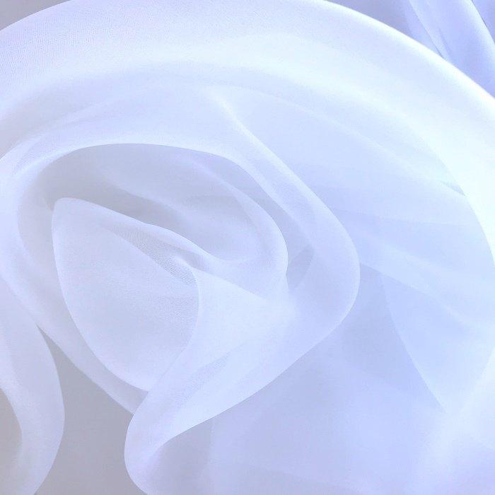 Tecido Organza Fosca Branca Toque de Seda