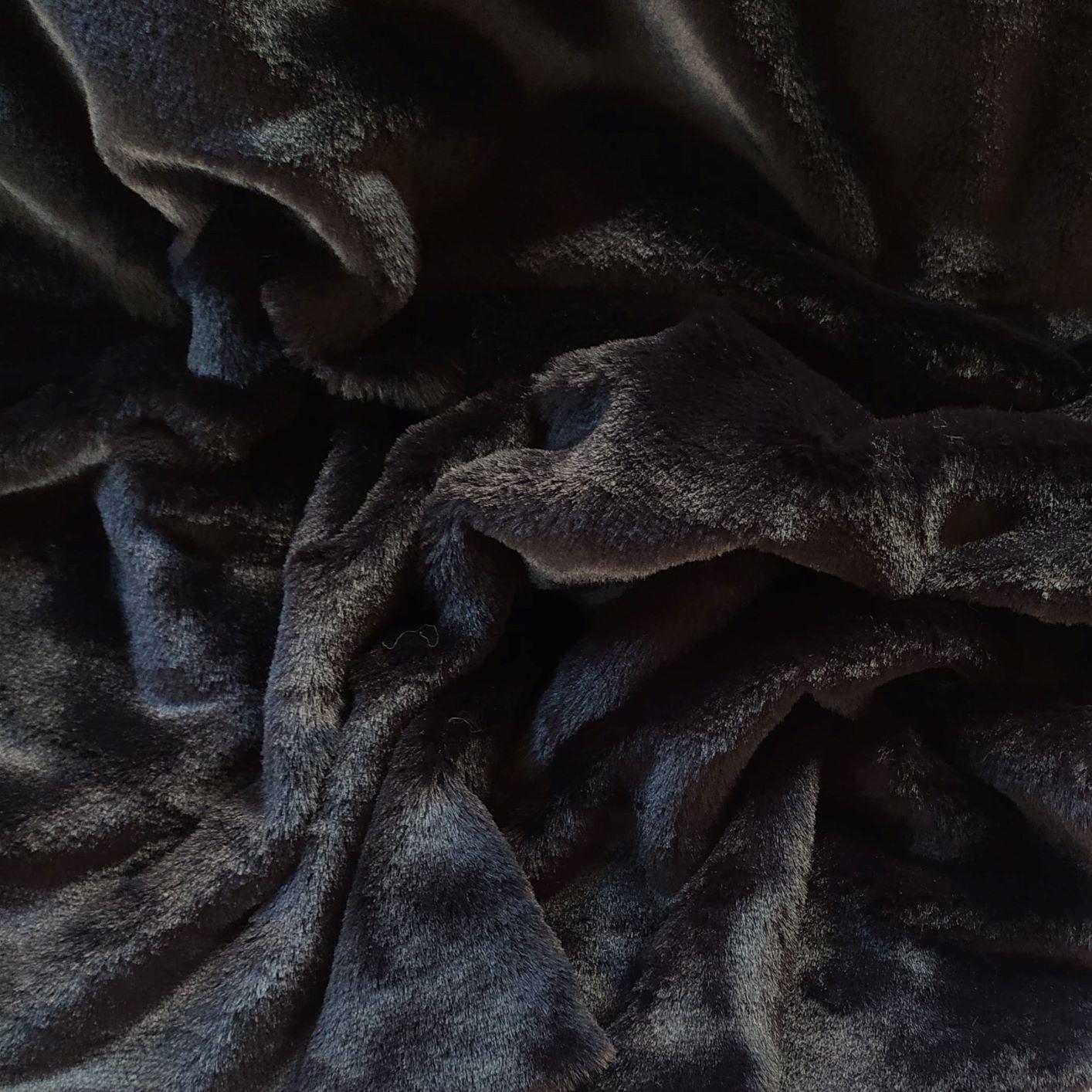 Tecido Pele Ecológica Lisa Preta