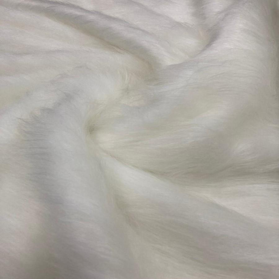 Tecido Pelúcia Pelo Alto Branca