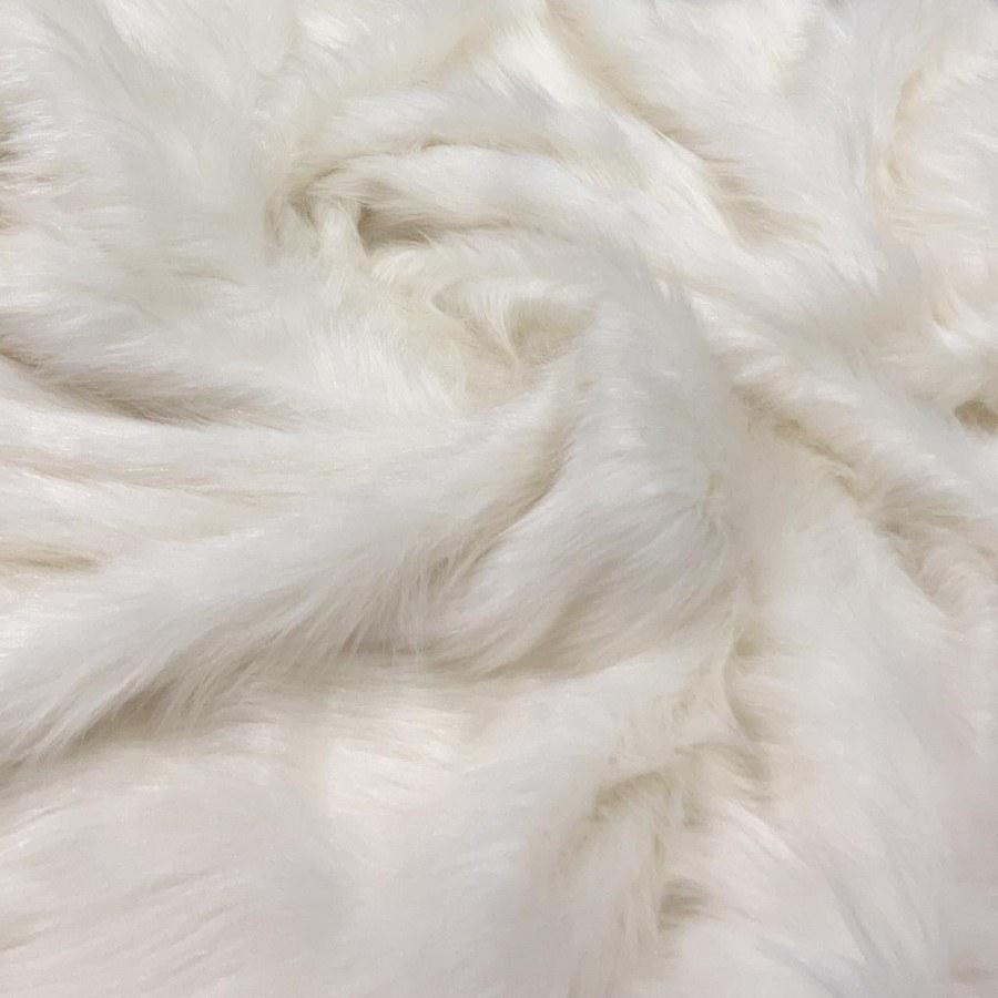 Tecido Pelúcia Pelo Alto Off White