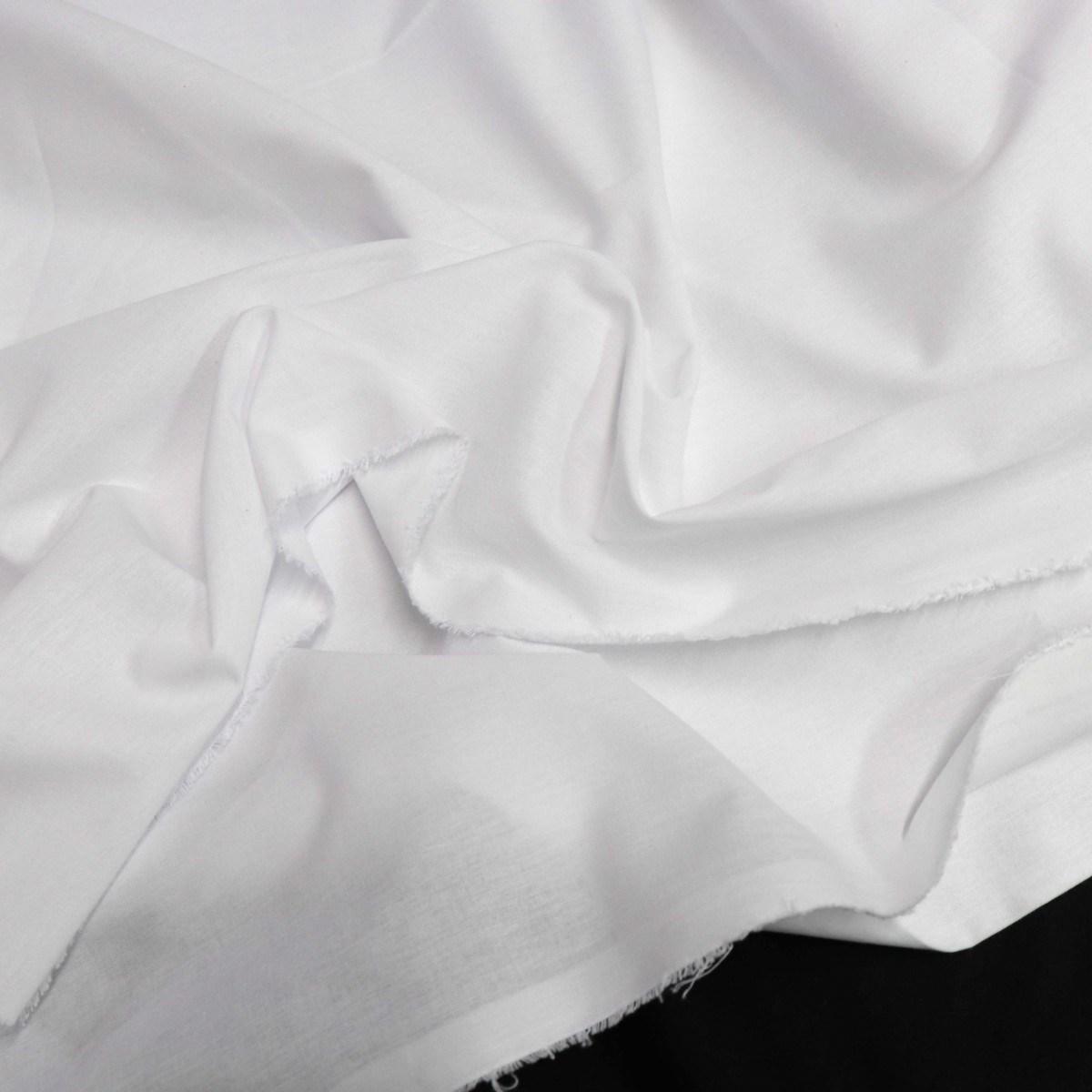 Tecido Percal 150 Fios Branco 2,45 de Largura