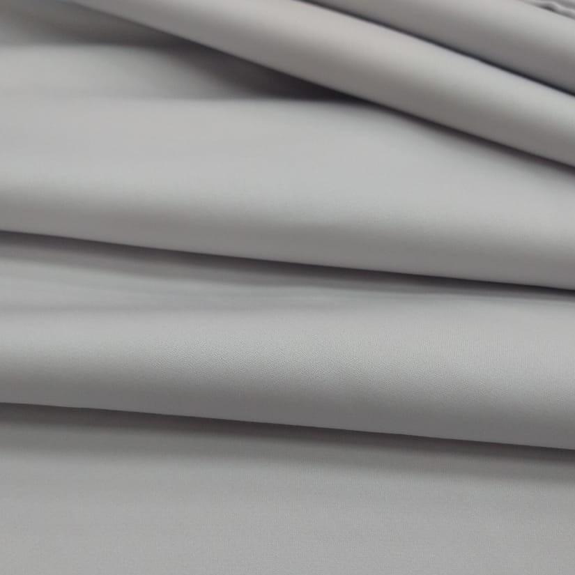 Tecido Percal Acetinado 400 Fios Cor Cinza