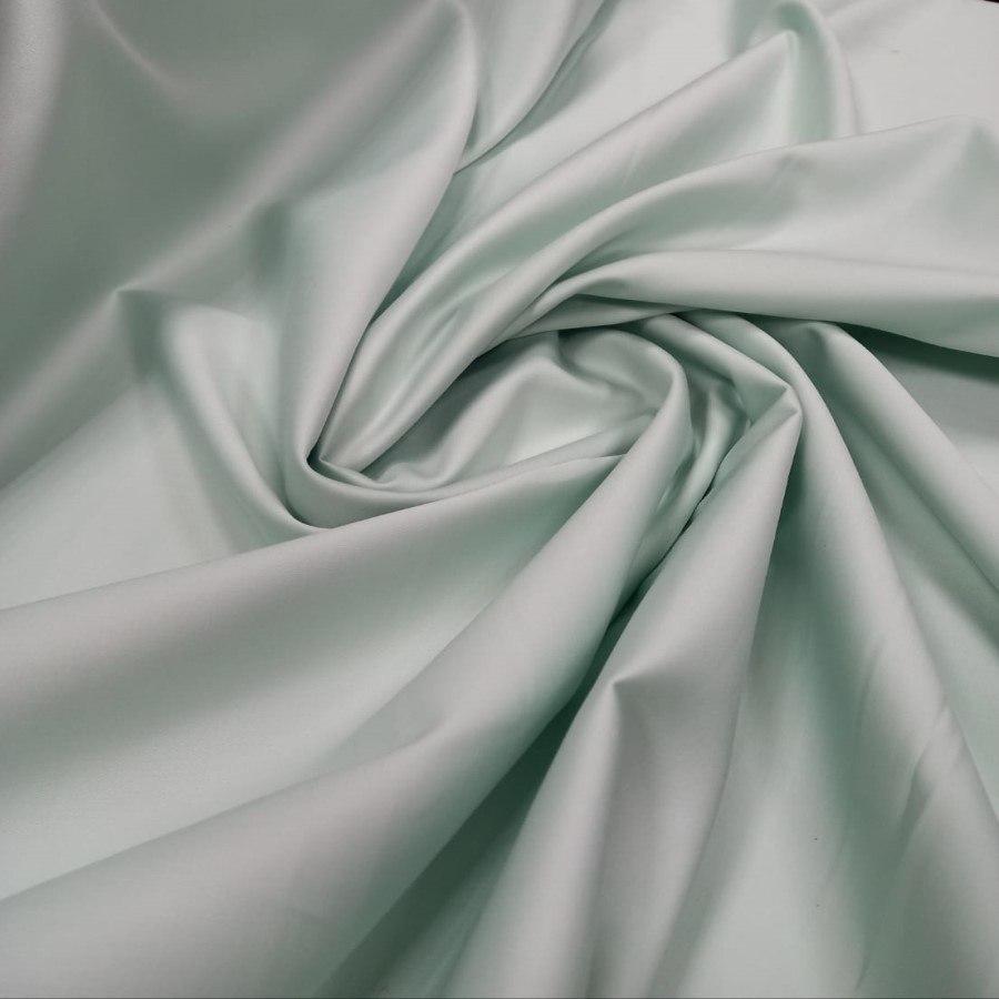 Tecido Percal Egípcio 400 fios Acetinado Verde Menta