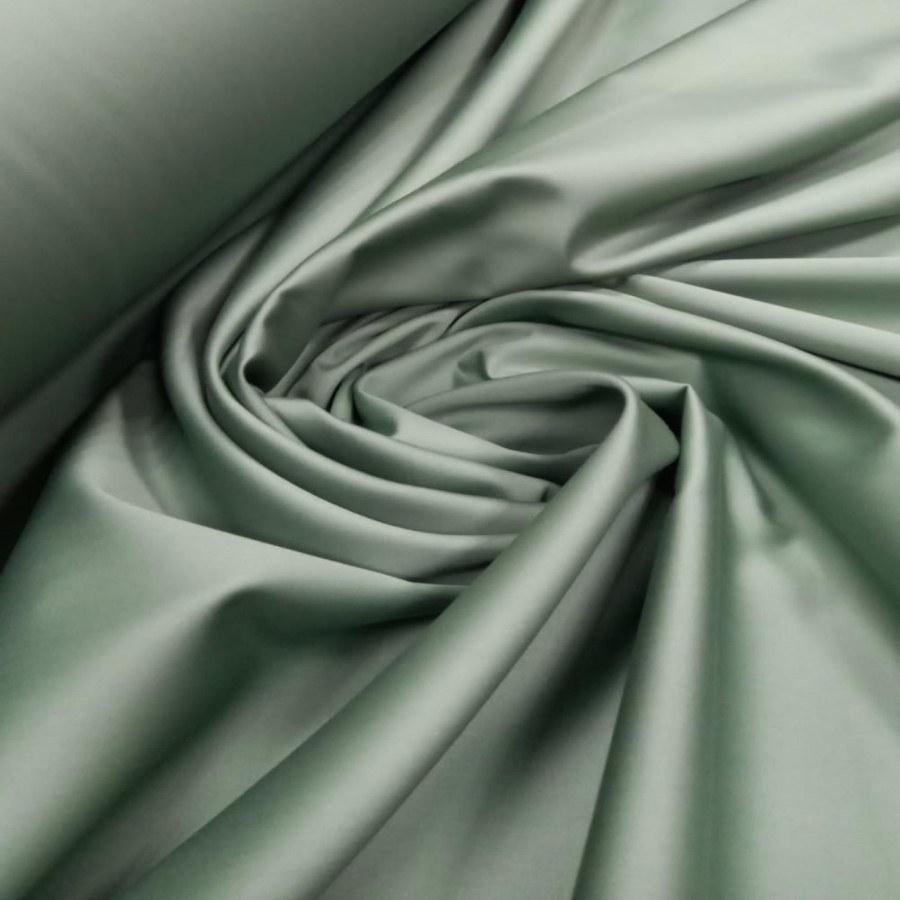 Tecido Percal Egípcio 400 fios Acetinado Verde Oliva