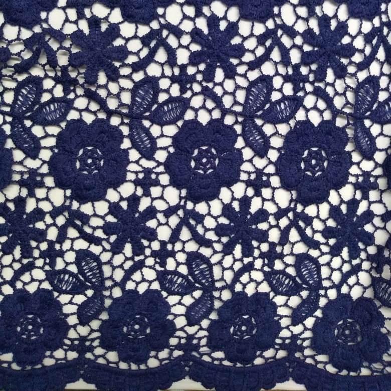 Tecido Renda Guipir Azul Marinho