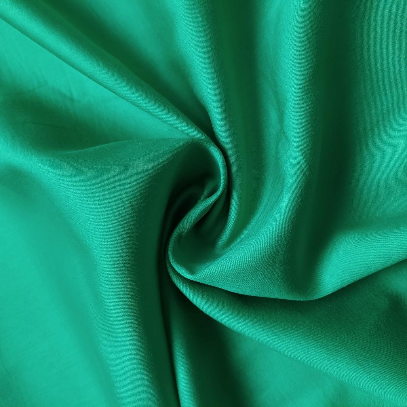 Tecido Tricoline Acetinada Fio 80 Verde Bandeira