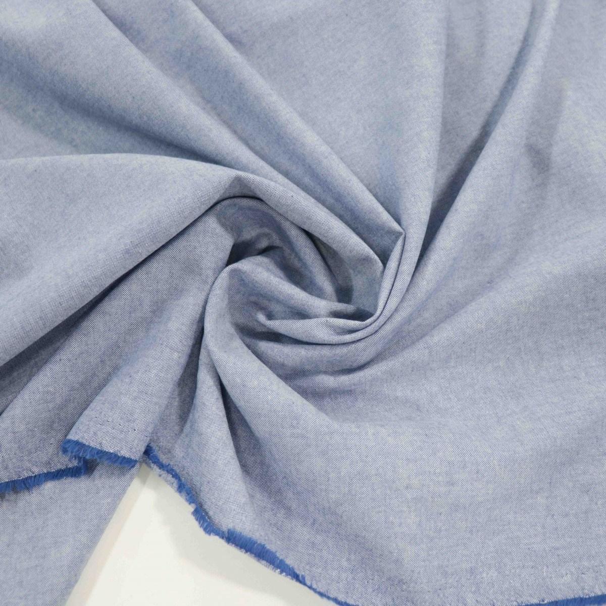 Tecido Tricoline Camisaria Jeans Azul Mescla