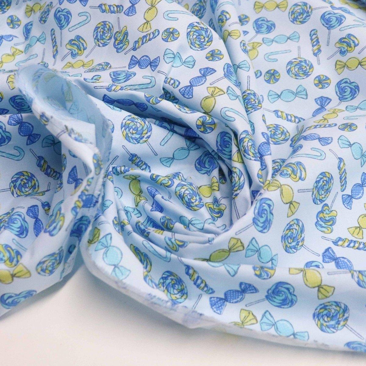 Tecido Tricoline Candy Azul