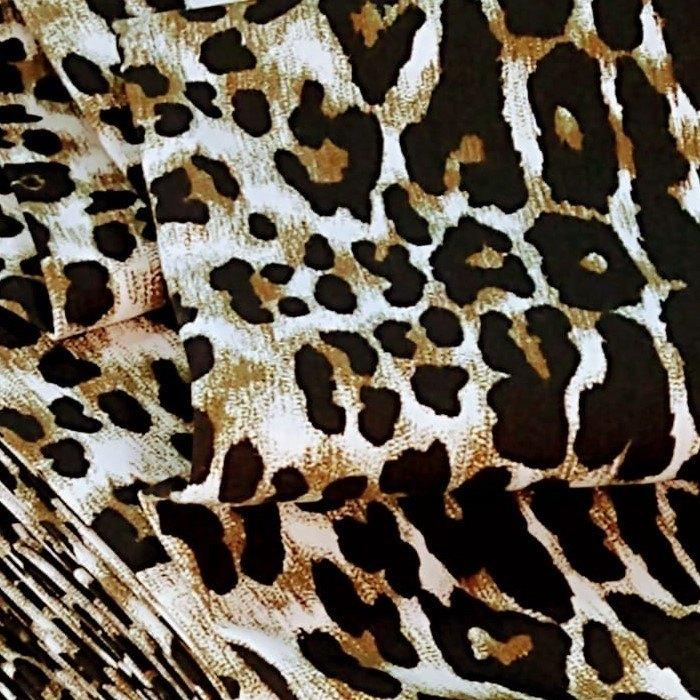 Tecido Tricoline Coleção Animal Print Marrom