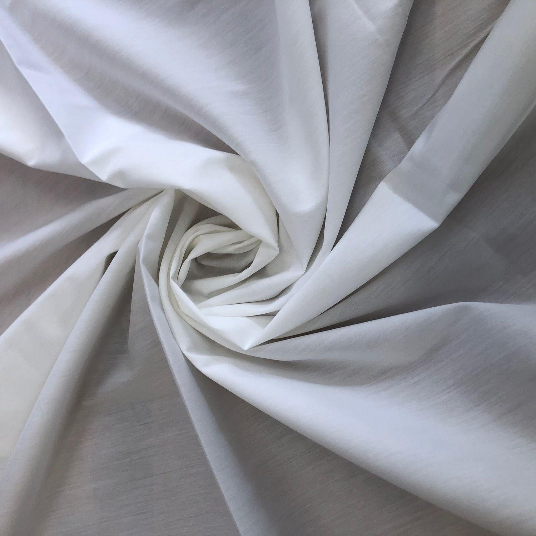 Tecido Tricoline com Elastano Off White