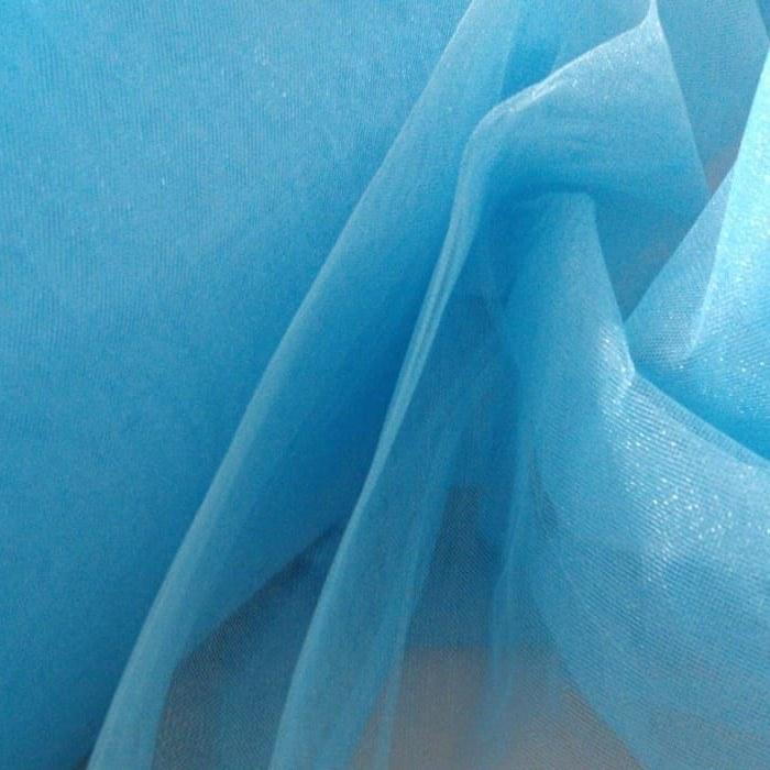Tecido Tule Cristal Azul Celeste