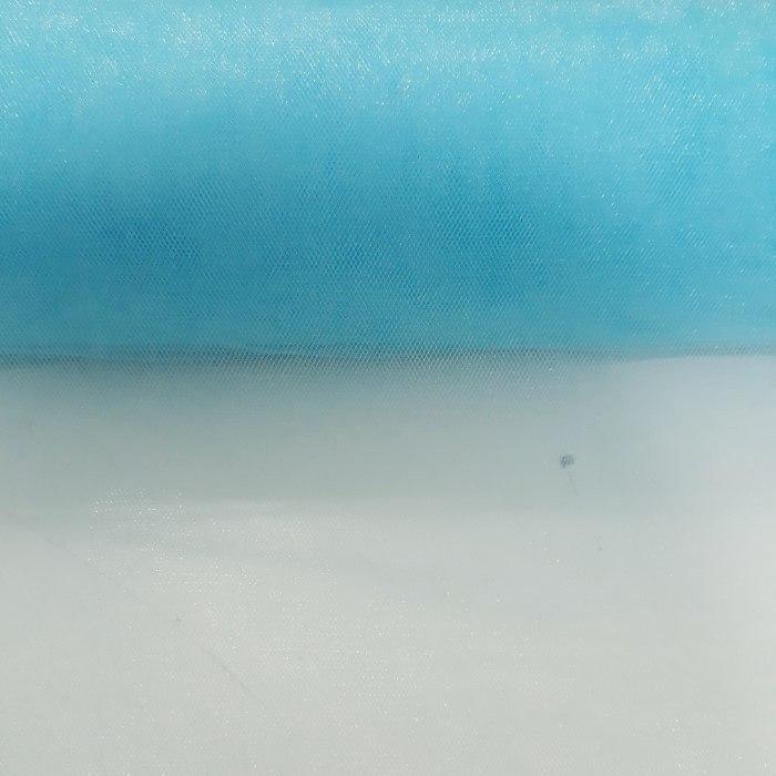 Tecido Tule Cristal Azul Turquesa