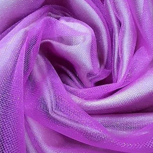 Tecido Tule Cristal Rosa Chiclete Com Brilho