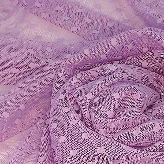 Tecido Tule Flex Dot´s Poá Grande Cor Lilás