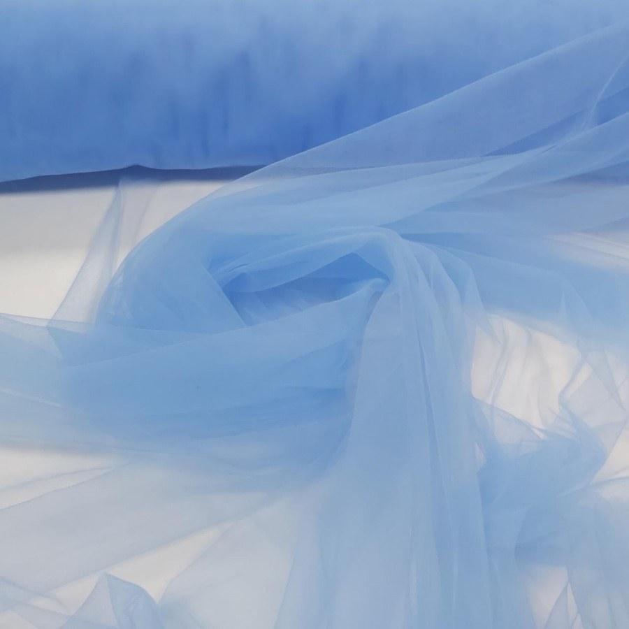 Tecido Tule Ilusion Azul Celeste