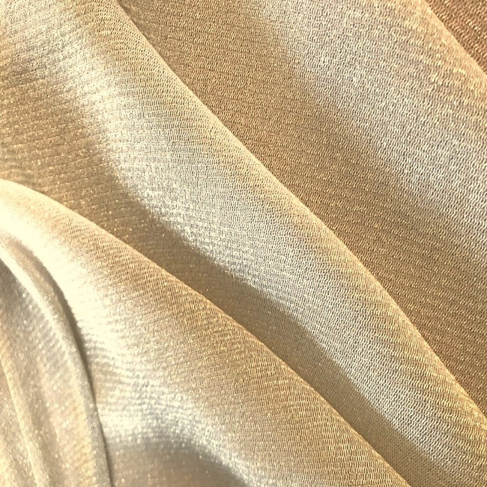 Tecido Tule Lurex de Malha Dourado