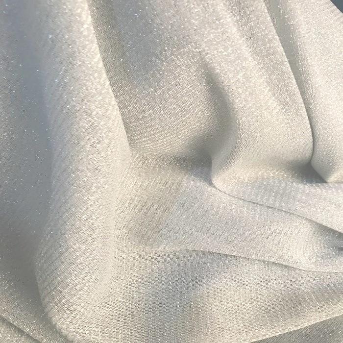 Tecido Tule Lurex de Malha Prata