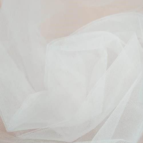Tecido Tule Paris Com 3,20 Largura Na Cor Branco Sem Brilho