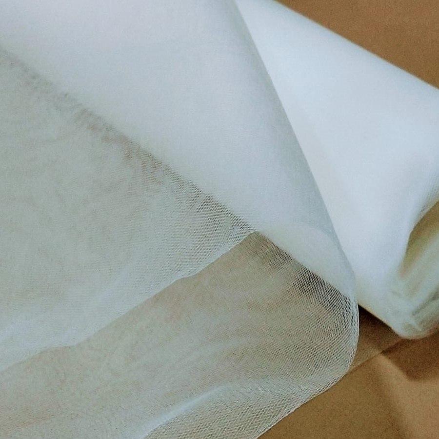 Tecido Tule Paris Com 3,20 Largura Na cor Off White Sem Brilho