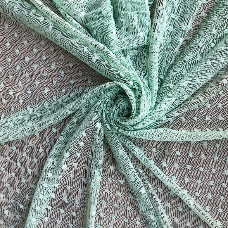 Tecido Tule Poá Verde Mint