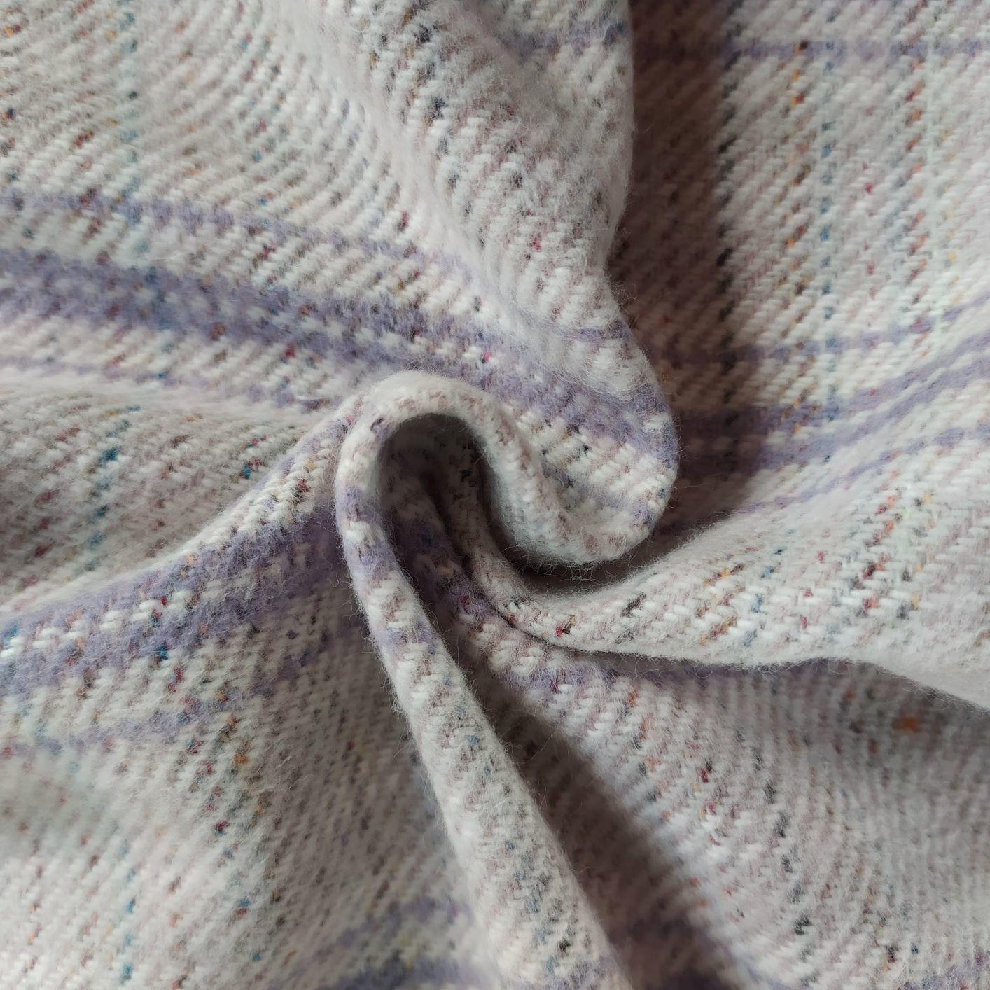 Tecido Tweed Algodão Fio tinto Lilás