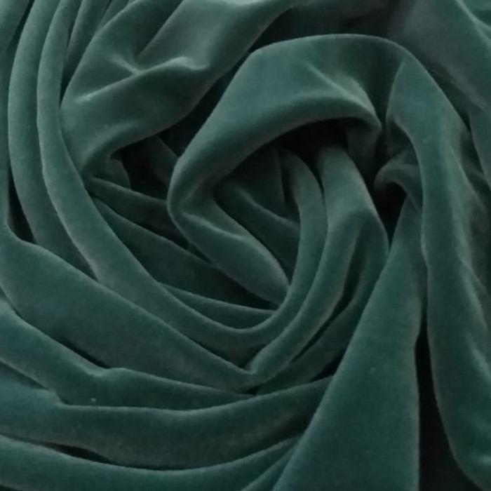 Tecido Veludo 3 (Três) Águias Tipo Alemão Verde Musgo