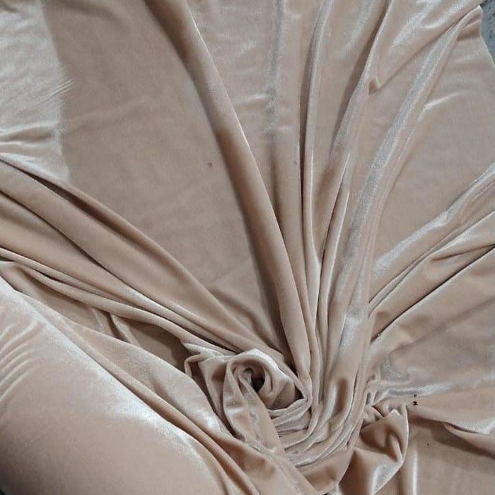 Tecido Veludo Alemão Span Molhado Cor Nude Rose