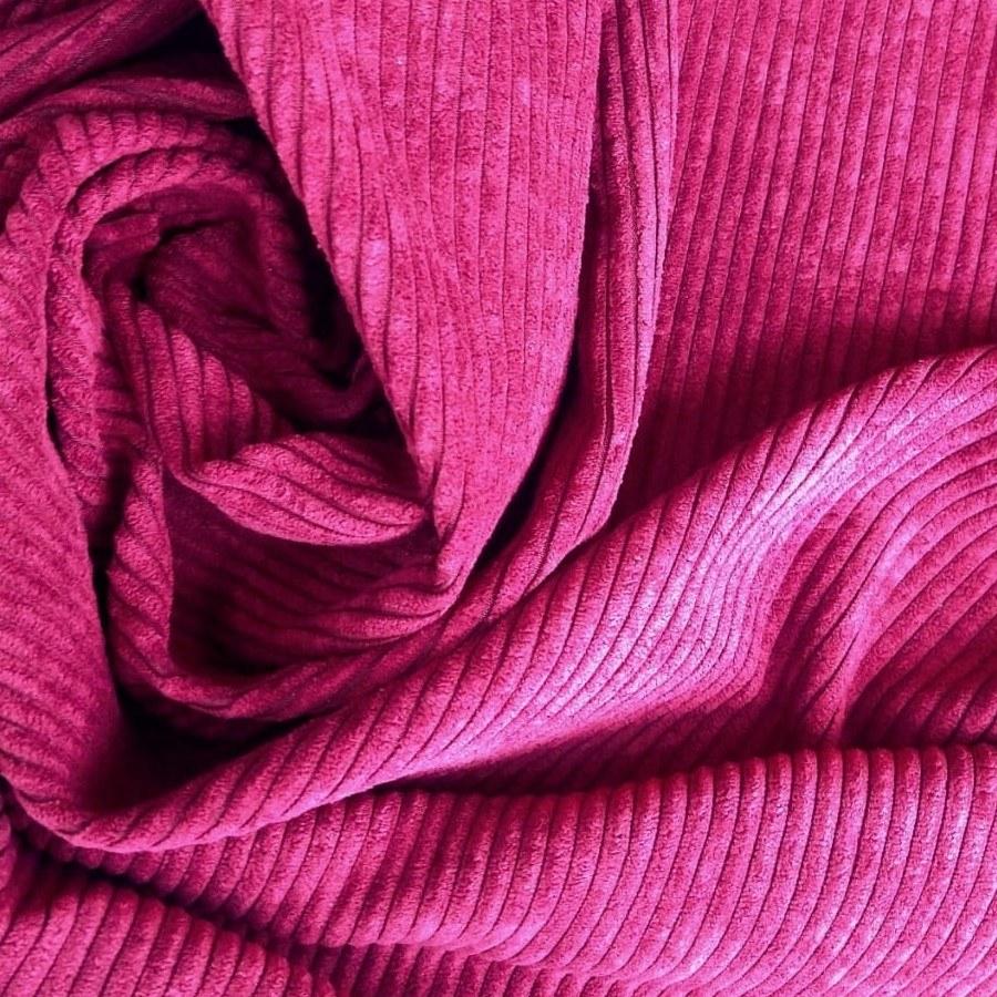Tecido Veludo Cotelê Rosa Púrpura