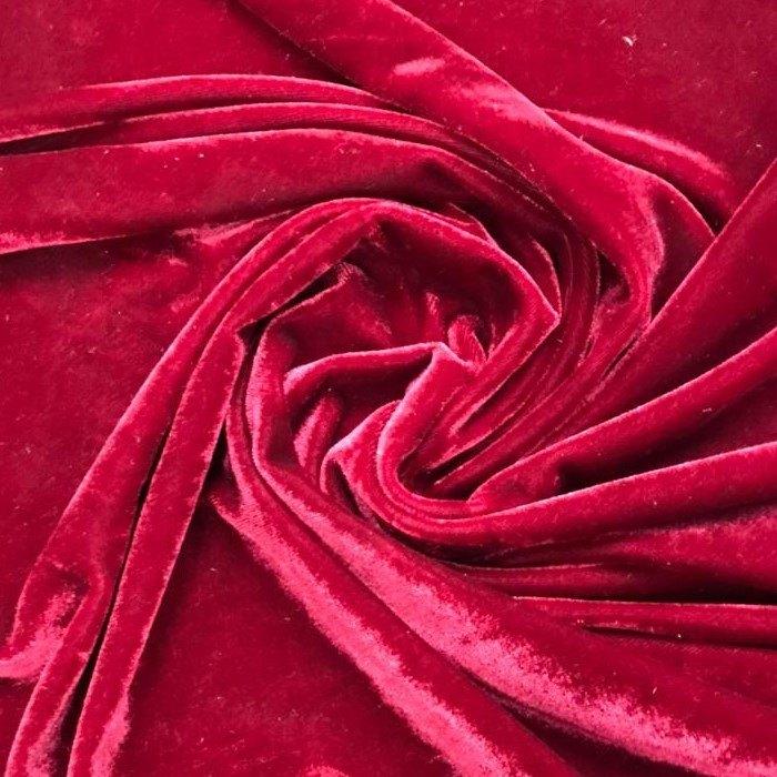 Tecido Veludo Molhado Marsala - Pantone 7421 C