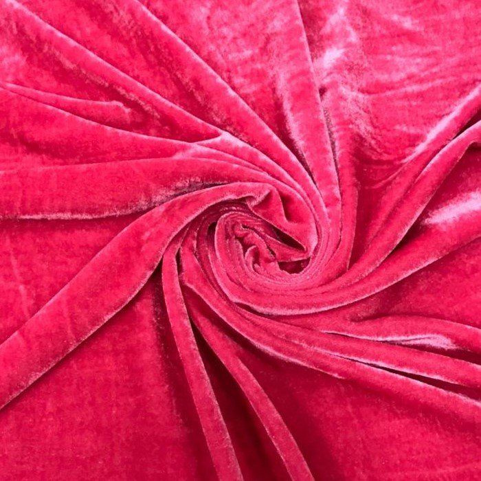 Tecido Veludo Molhado Melancia - Pantone 7636 C