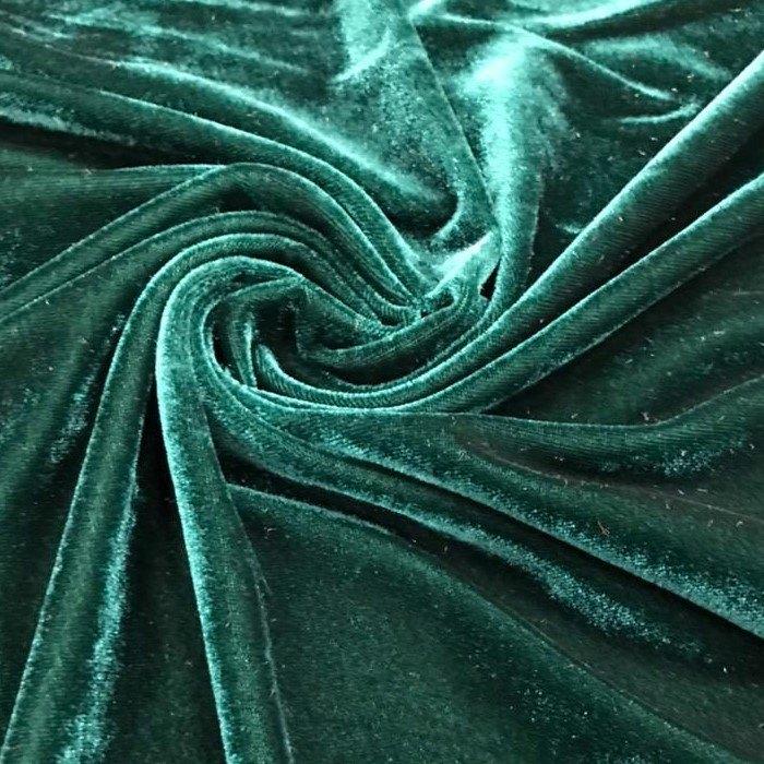 Tecido Veludo Molhado Verde - Pantone 19-5406
