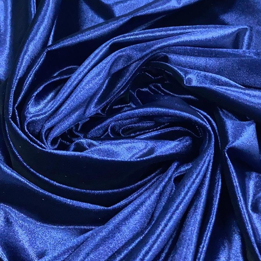 Tecido Veludo Shine Azul Marinho