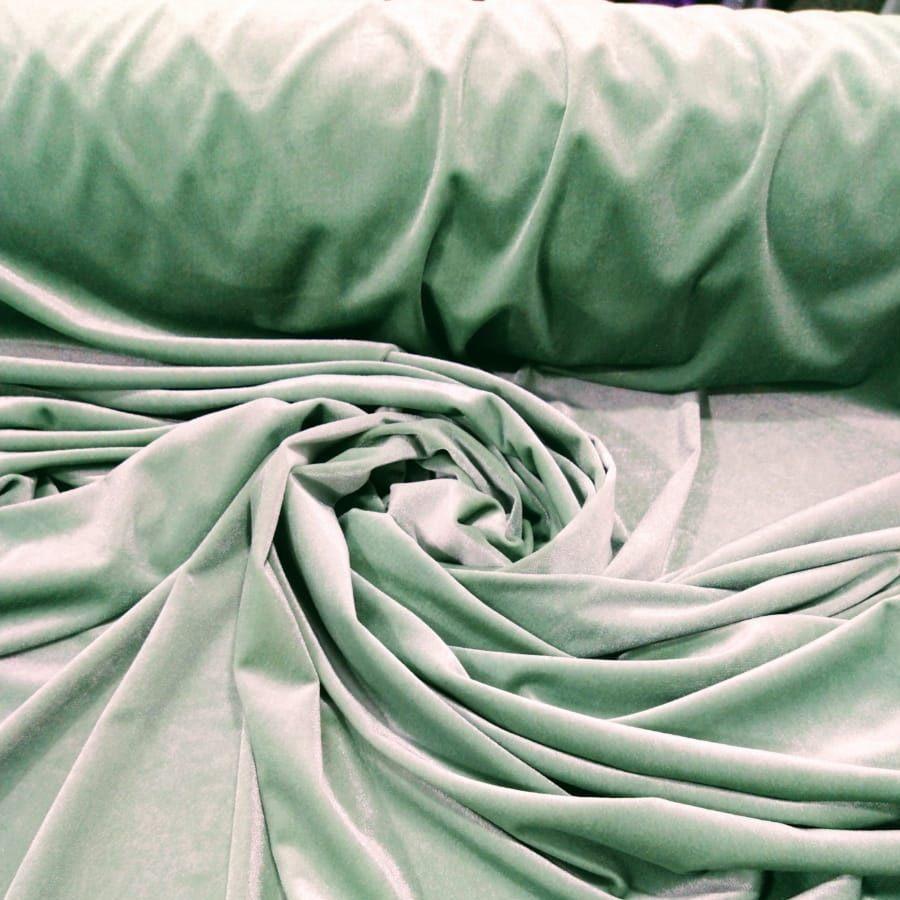 Tecido Veludo Spandex Cor Verde Neon Mite