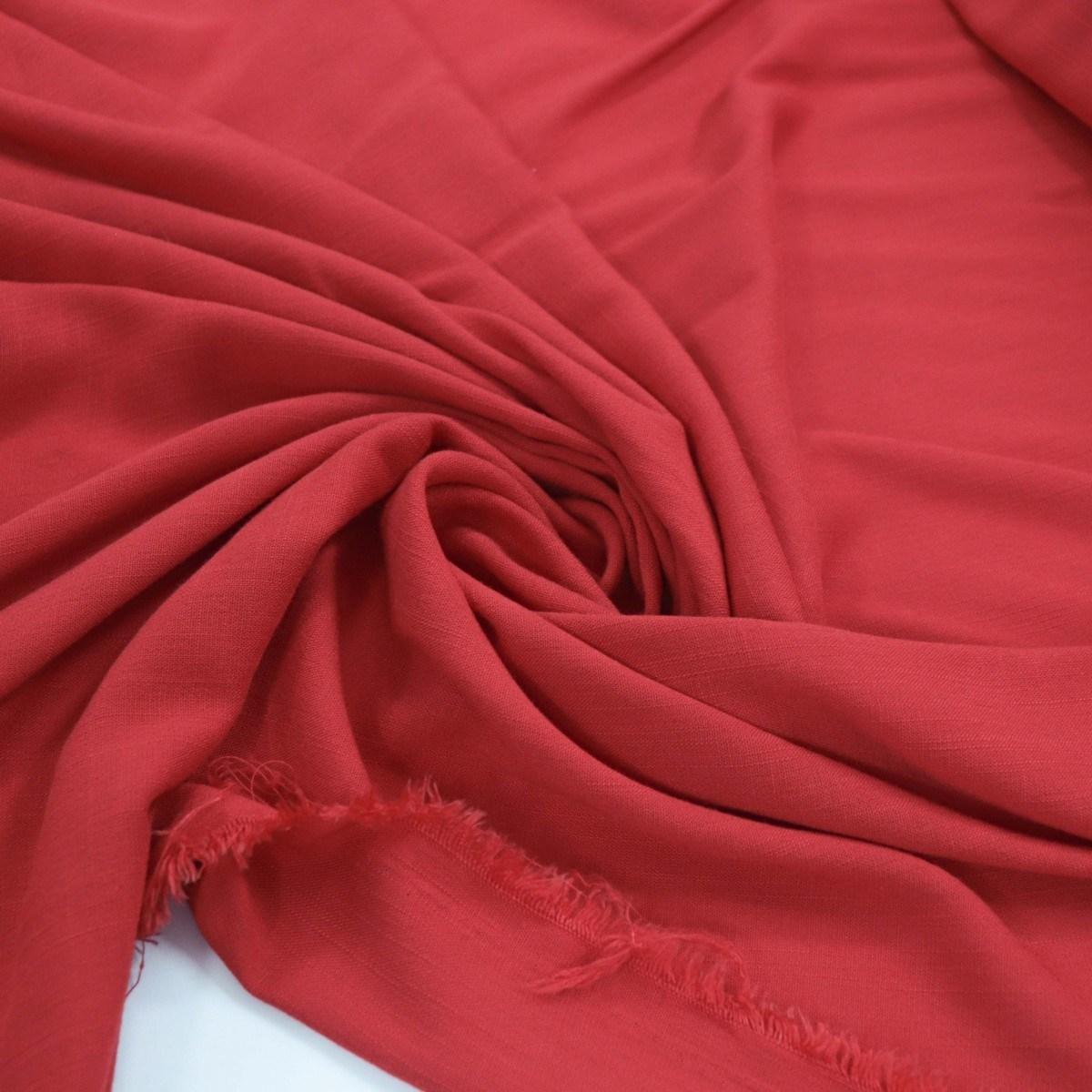 Tecido Viscolinho Vermelho