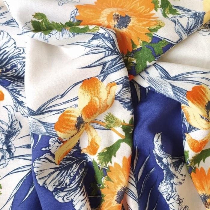 Tecido Viscose Estampada Floral