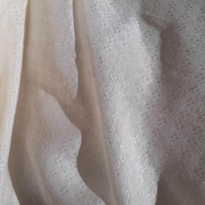 Tecido Viscose Jacquard Off White