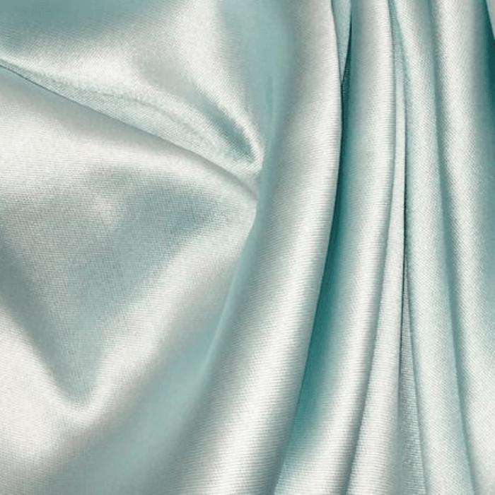 Tecido Zibeline de Poliéster Azul Claro