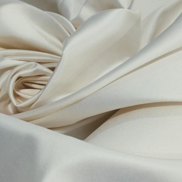 Tecido Zibeline De Seda Pura Cor Off White