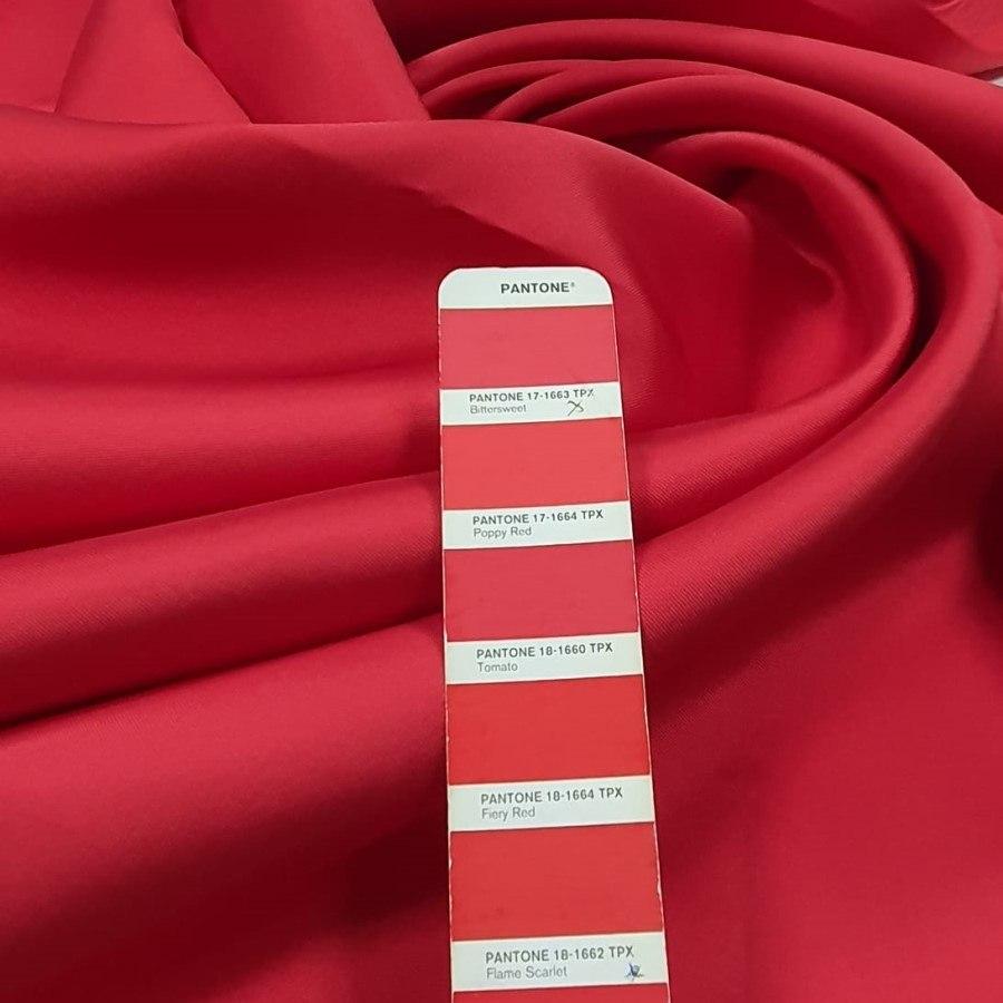Tecido Zibeline Lisa Vermelho Ferrari