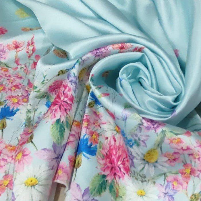 Tecido Zibeline Monarca Coleção Primavera-verão Cor Azul Bebê