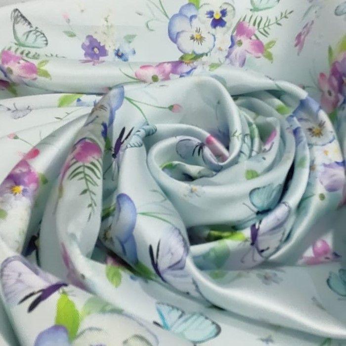 Tecido Zibeline Monarca Estampa Coleção Sonhos E Encantos Cor Tiffany
