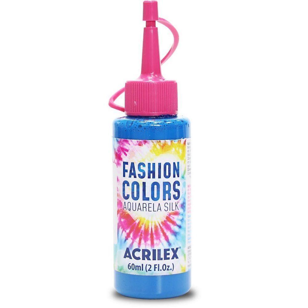 Tinta Aquarela Para Tecido Silk Fashion Colors 60ml - Azul Celeste