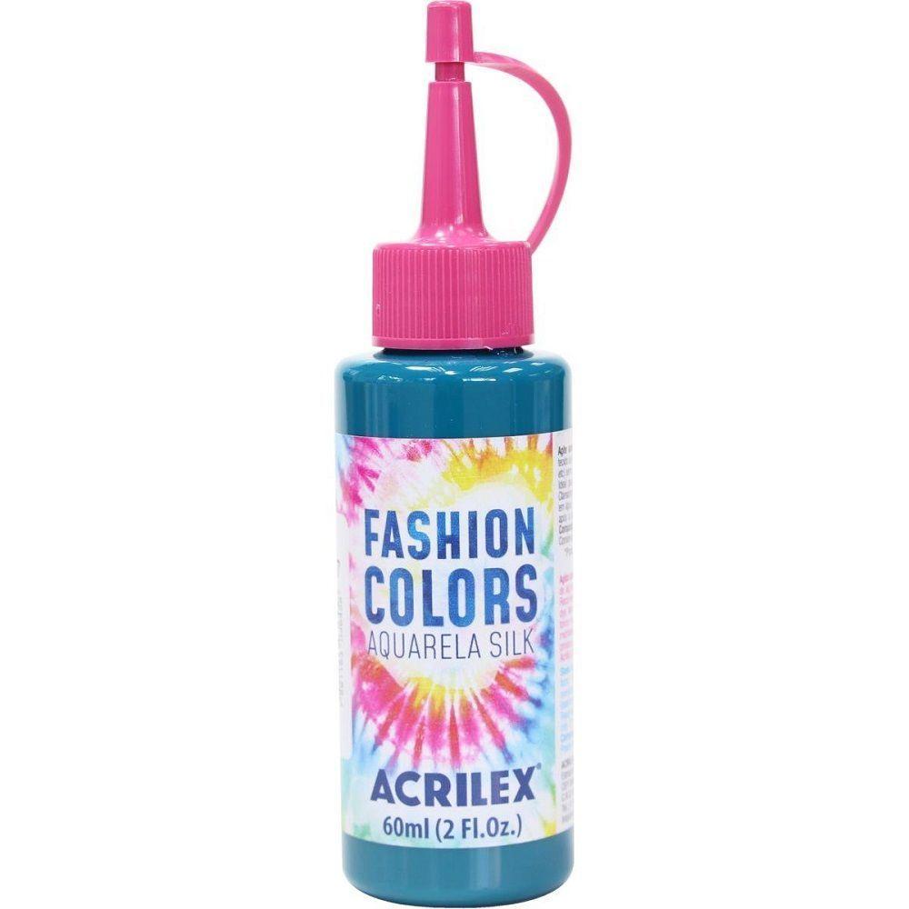 Tinta Aquarela Para Tecido Silk Fashion Colors 60ml - Azul Turquesa