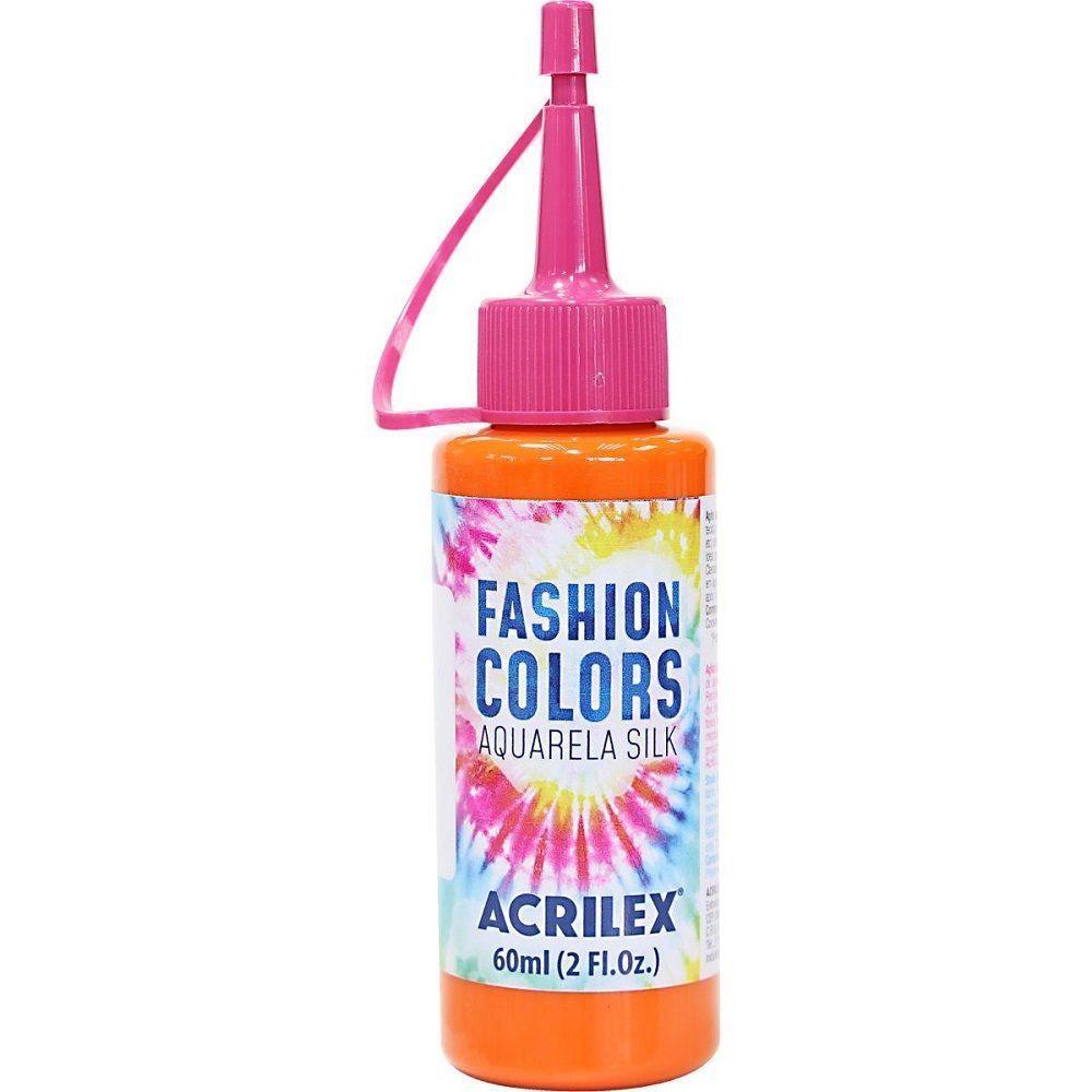 Tinta Aquarela Para Tecido Silk Fashion Colors 60ml - Laranja