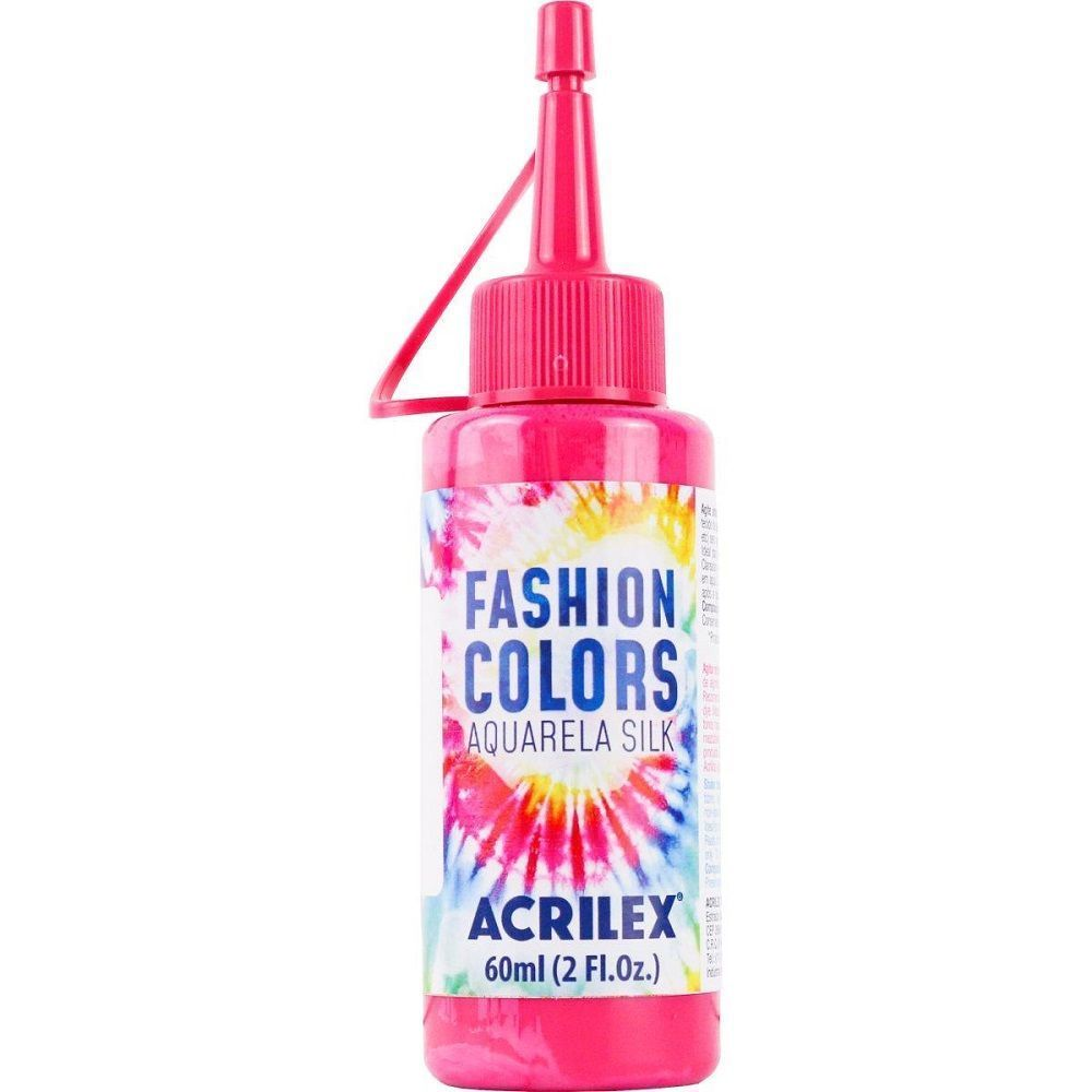 Tinta Aquarela Para Tecido Silk Fashion Colors 60ml - Rosa