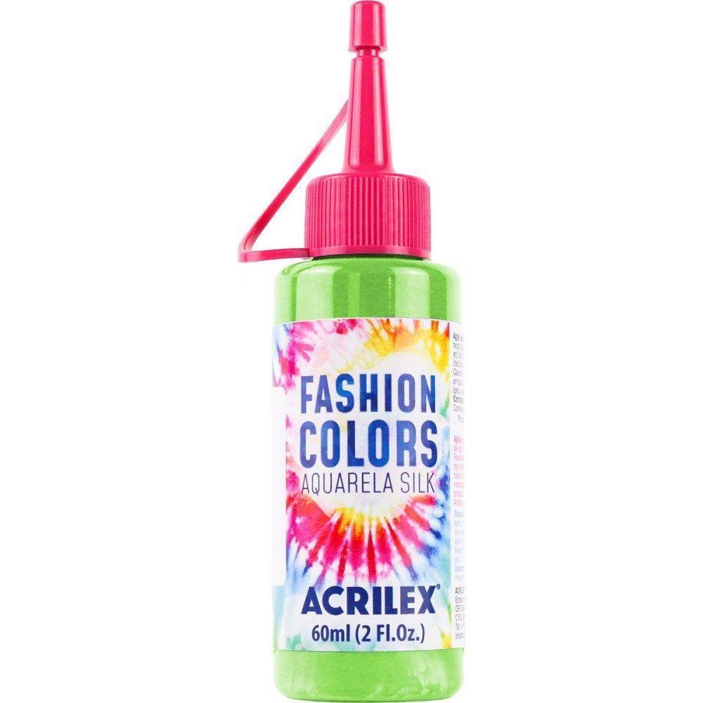 Tinta Aquarela Para Tecido Silk Fashion Colors 60ml - Verde Folha