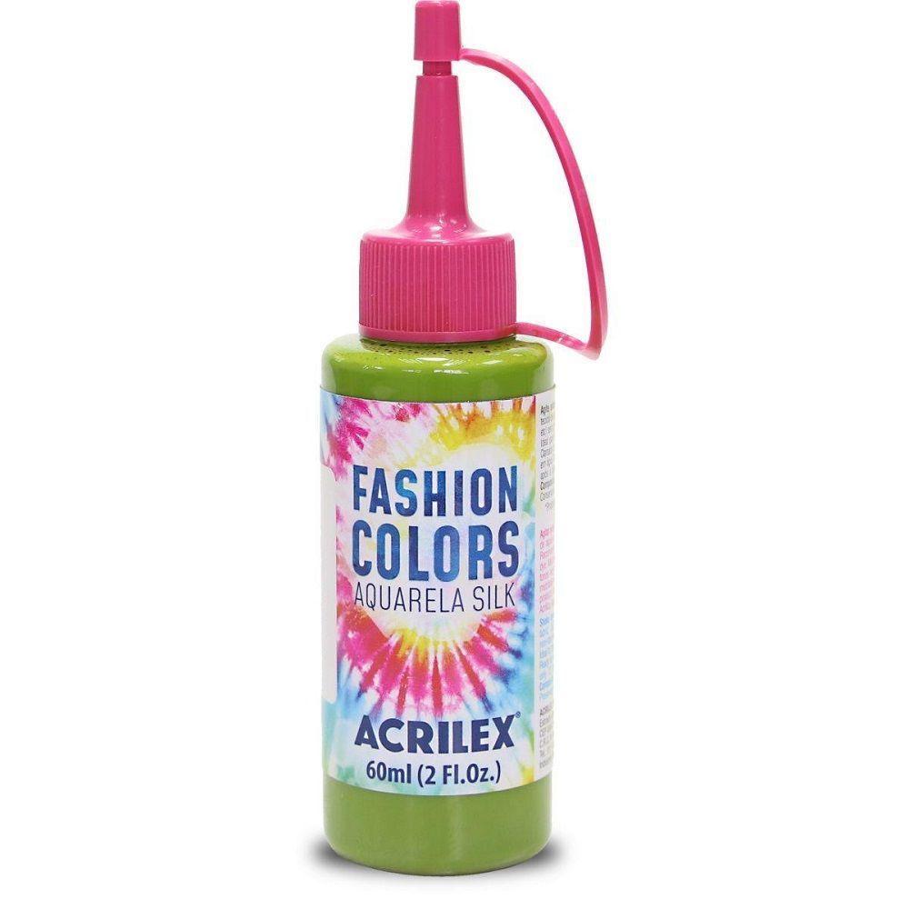 Tinta Aquarela Para Tecido Silk Fashion Colors 60ml - Verde Musgo