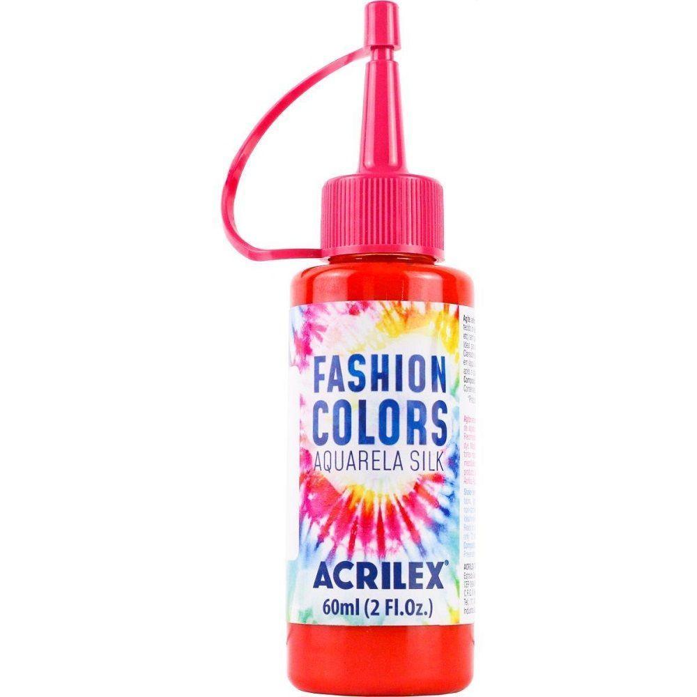 Tinta Aquarela Para Tecido Silk Fashion Colors 60ml - Vermelho