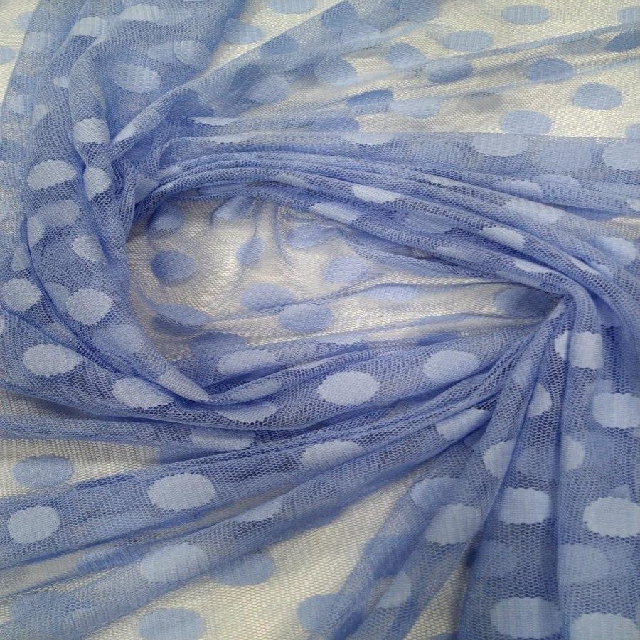 Tecido Tule Point Sprit Azul Serenity Grande